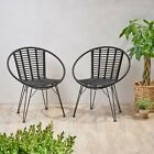 Winnie Outdoor Wicker Dining Chairs (Set of 2)