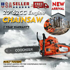 """Upgrade COOCHEER 62/58CC 20"""" Gas Chainsaw Handed Petrol Chain Woodcutting 2Cycle"""