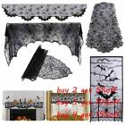 Fireplace Mantle Scarf Cover Halloween Horror Props Cobweb Runner Tablecloth