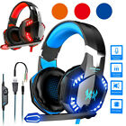 Gaming Headset Mic LED Headphones Stereo Bass Surround For PC Xbox One PS4 PS5