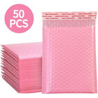 50pcs Bubble Padded Envelopes Bags Self Seal Pink Poly Courier Bags Waterproofl
