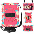 For iPad 8th Generation 10.2 2020 Shockproof Heavy Duty Rugged Case Strap Cover