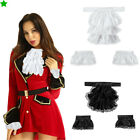 Victorian Lace Jabot Cuffs Set Stage Party Steampunk Costume Accessory Adult Kid