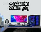 Gaming Zone Wall Stickers XBox One Controller Game Zone Vinyl Decals Murals Xbox
