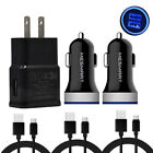 For Samsung Galaxy S10e S20 Note 10 20 A71 A50 USB Wall/Car Charger Type C Cable