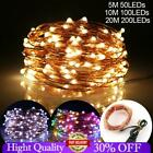 LED USB Fairy String Lights Micro Rice Copper Wire Xmas Static Lamp Party Decor