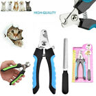 Pet Dog Cat Nail Claw Clippers Paw Cutter Trimmer File Safety Grooming Tool S/L