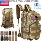 40L Outdoor  Backpack Rucksack Bag  Military Tactical Waterproof Shoulders Bag