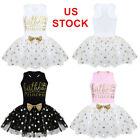 US Baby Girls Birthday Dress Outfits Top Party Skirts Princess Clothes Costumes