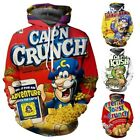 Crunch Berries 3D Print Womens Men's Hoodie Sweatshirt Pullover tops Jumper