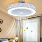 21.6 in Modern Acrylic Ceiling Fan Remote & 3 Wind Speed Dimmable LED Light kit