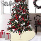48inch Christmas Tree Skirt Holiday Decoration Soft Traditional Knitted Gift