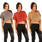 Women Knitted Sweater Ex Branded Acrylic Fabric Back Stud Buttons Round Neck Top
