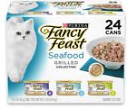 24 Cans Purina Fancy Feast Grilled Feast Gravy Canned Wet Cat Food