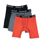 Reebok Men's Performance Long Leg Boxer Briefs 3-Pack