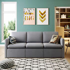 Convertible Sectional Sofa Couch, Modern Linen Fabric L-Shaped Couch Grey