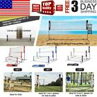 10/14/17ft Adjustable Portable Foldable Badminton Tennis Volleyball Net Stand