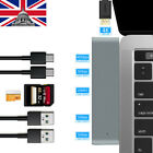 7in1 USB-C Hub 4K HDMI Dual Type-C Card Reader Multiport Adapter For MacBook Pro