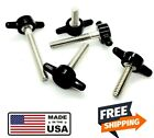 #10-24 SS Tee Bolt Thumb Screws with Wing Knob Multiple sizes and colors
