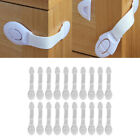 Baby Safety Cabinet Locks White 21cm for Home Bedroom Kitchen Living Room Kids