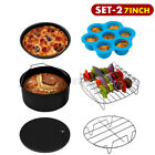 Black 7 inch 8 inch 9 inch Air Fryer Accessories Frying Dish Baking Pan Rack