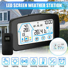 Wireless Weather Station Digital LCD Clock Hygrometer Indoor Outdoor Temperature