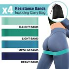 Resistance Bands Loop Set Exercise Workout Home Gym Fitness Glutes Legs Yoga