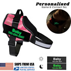 Personalized Fluorescent Patch (Custom Name and Contact) NO Pull Dog Harness