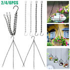 Hanging Flower Plant Pot Chain Basket Planter Holder Home Balcony Garden Decor