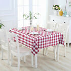Plaid Gingham Tablecloth Rectangle 60x84'' Easy Wash Weddding party Decorations