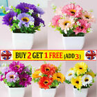 Fake Artificial Small Flowers Plants In Pot Home Office Party Table Decor