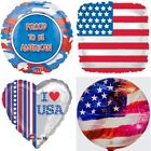 """Patriotic 18"""" Flag July 4th Stars Stripes USA America Foil Mylar Party Balloons"""