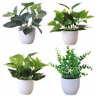 Artificial Simulation Bonsai Fake Flower In Pot Foliage Plant Potted Home Decor