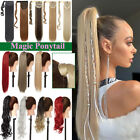 US Long 1 pcs Magic Ponytail Extensions Hair Extension Real Wrap Around Ponytail