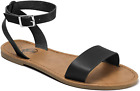 Trary Ankle Strap And Metal Buckle Summer Flat Sandals For Women