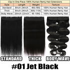 One Piece Indian Remy Hair Extensions Clip In 100% Real Human Hair 3/4 Full Head