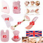 Genuine Rose Quartz Gua Sha Facial Massage Anti-Ageing Jade Face Slimming Tool