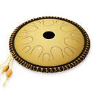 Ulalov Percussion Steel Tongue Drum 14Notes with Book Mallet Finger Pick Women