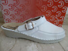 Turm Women Clogs Sabot Mules Slippers Real Leather White New