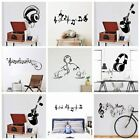 Decorative Music Wall Sticker For Kids Room Decoration Bar Home Bedroom Decor
