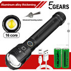 Super Bright XHP160 LED Flashlight 26650 USB Rechargeable Zoom Torch Light