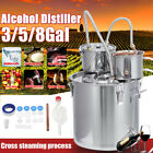 3/5/8G 30L Water Alcohol Distiller Brewing Kit  Stainless Home Boiler