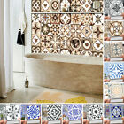 Modern 3d Floral Mosaic 20x Tile Stickers Self Adhesive Home Wall Decor Murals