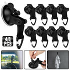 4/8Pcs Heavy Duty Strong Suction Cup Tie Downs w/Hook Car Awning Camping Outdoor
