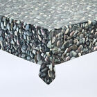 PEBBLES VINYL WIPE CLEAN TABLECLOTH TABLE COVER