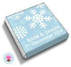 50 Personalised SNOWFLAKE Winter Wedding Favour Chocolates