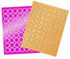 """6 SHEETS 1"""" ROUND BLANK BRIGHT STICKERS LABELS~2 COLORS"""