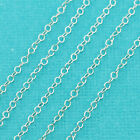 Sterling Silver Cable Chain 1mmx2mm link BY THE FOOT