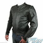 Mens Street Retro Motorcycle Sports Bike Leather Jacket 1.3mm Tall XS M 4XL only