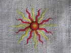 Passport Hemp Bag ~ small purse, embroidered sun